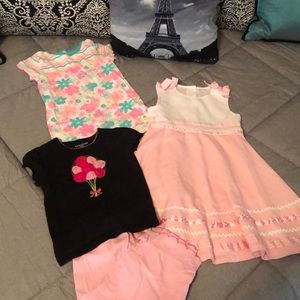 🎁3/$18🎁4 piece set: 2 dresses, pants, tee